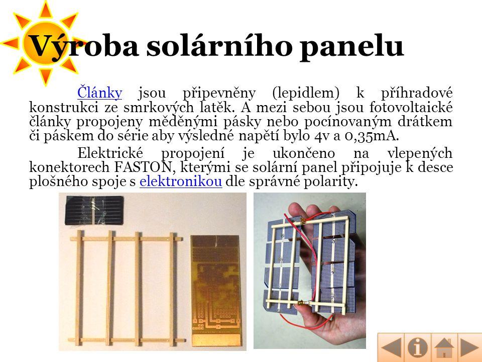 Výroba solárního panelu