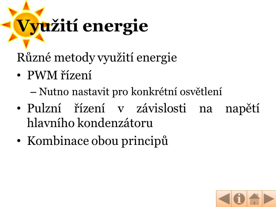 Využití energie Různé metody využití energie PWM řízení
