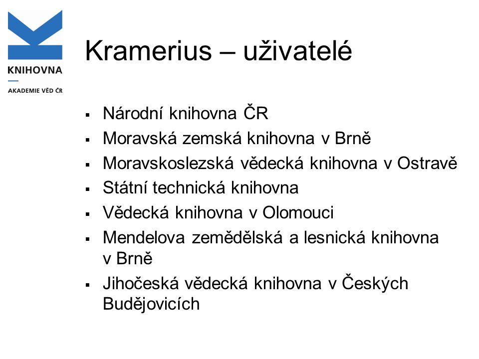 Kramerius – uživatelé Národní knihovna ČR
