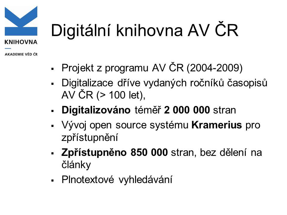 Digitální knihovna AV ČR