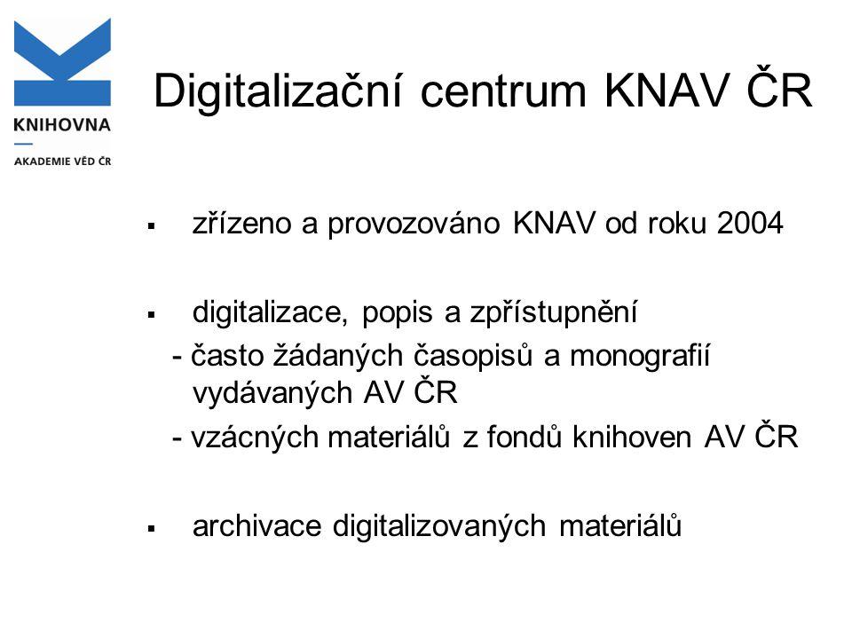 Digitalizační centrum KNAV ČR