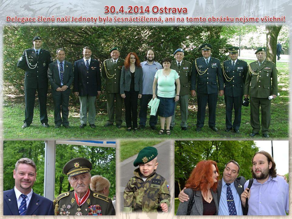 30.4.2014 Ostrava Delegace členů naší Jednoty byla šesnáctičlenná, ani na tomto obrázku nejsme všichni!