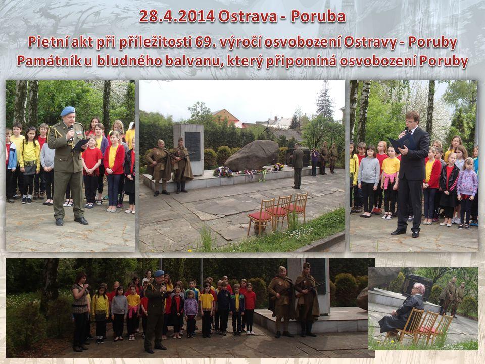 28.4.2014 Ostrava - Poruba Pietní akt při příležitosti 69. výročí osvobození Ostravy - Poruby.