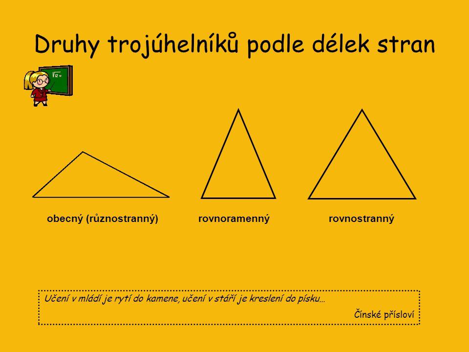 Druhy trojúhelníků podle délek stran