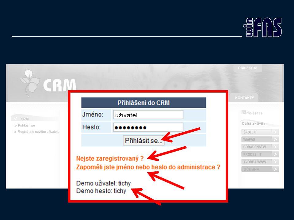 uživatel Registrace vyžaduje potvrzení na OK