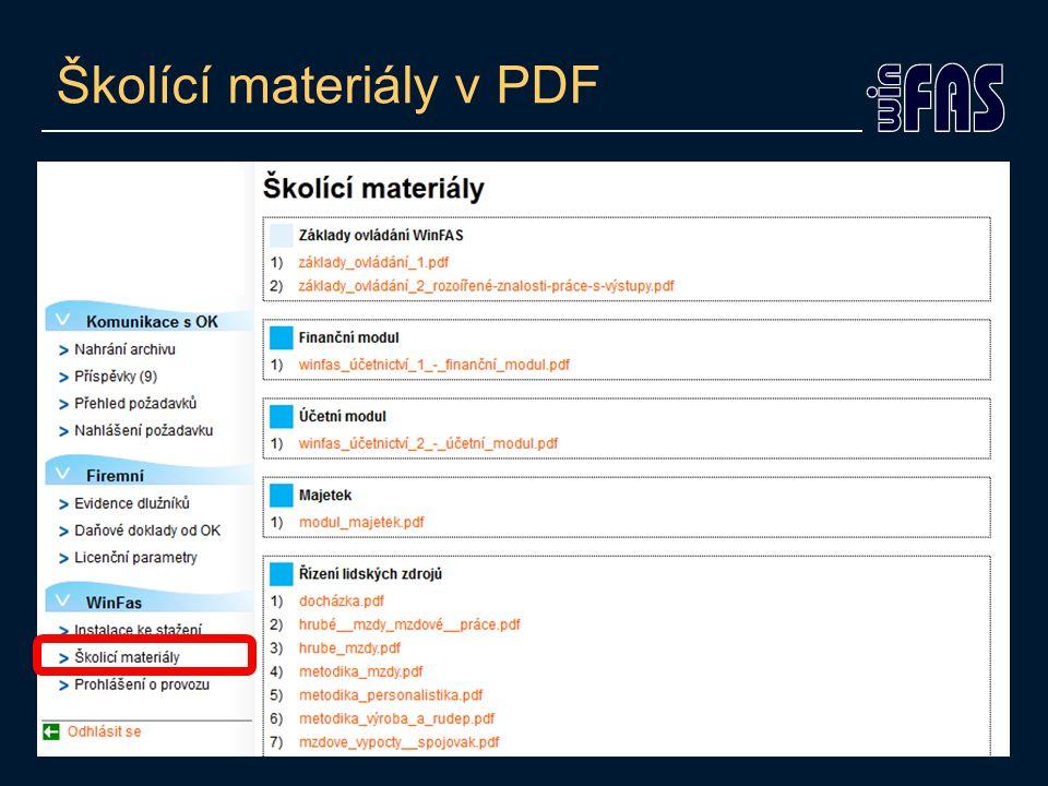 Školící materiály v PDF
