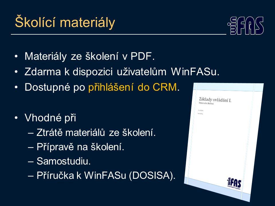 Školící materiály Materiály ze školení v PDF.