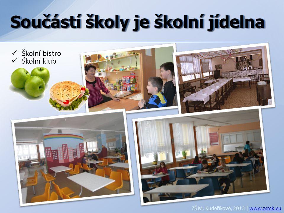 Součástí školy je školní jídelna Součástí školy je školní jídelna
