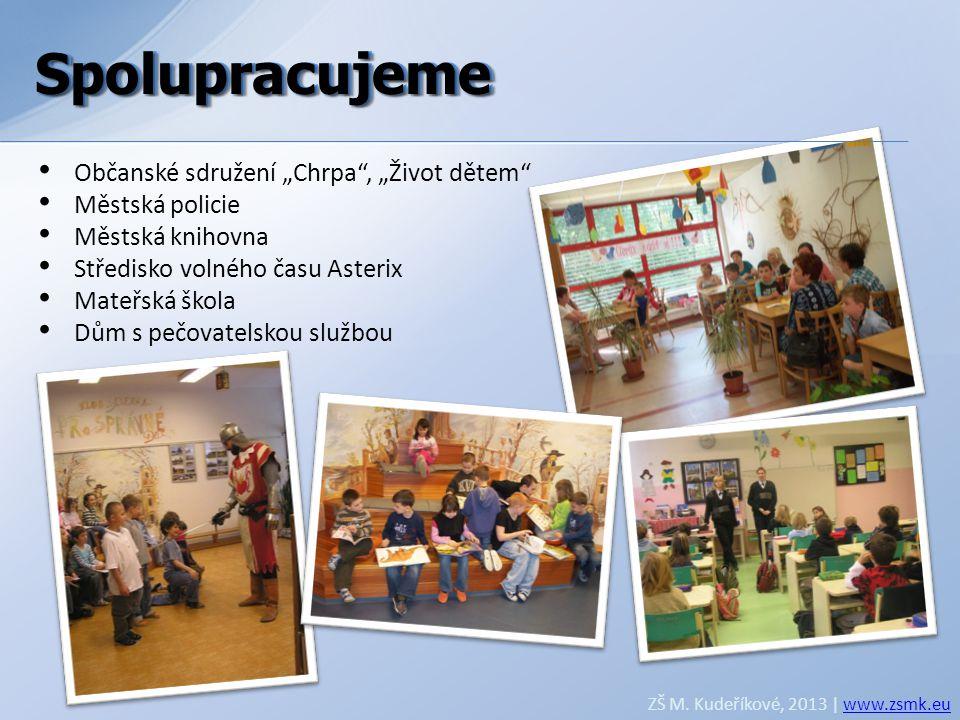"""Spolupracujeme Spolupracujeme Občanské sdružení """"Chrpa , """"Život dětem"""