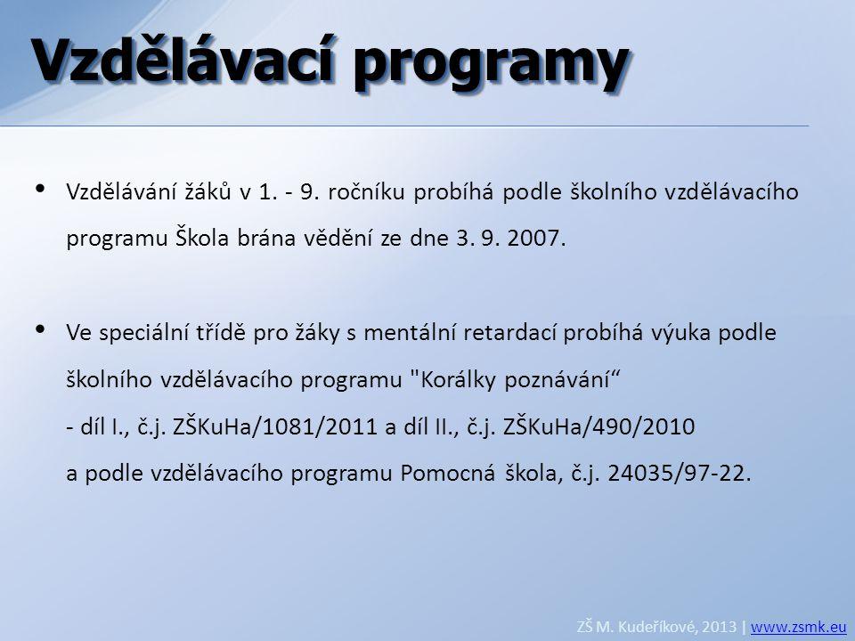 Vzdělávací programy Vzdělávací programy