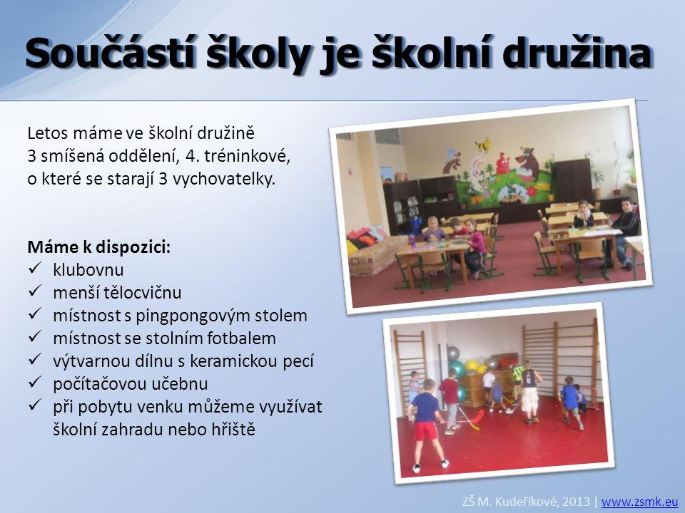 Součástí školy je školní družina Součástí školy je školní družina