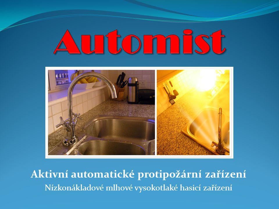 Aktivní automatické protipožární zařízení