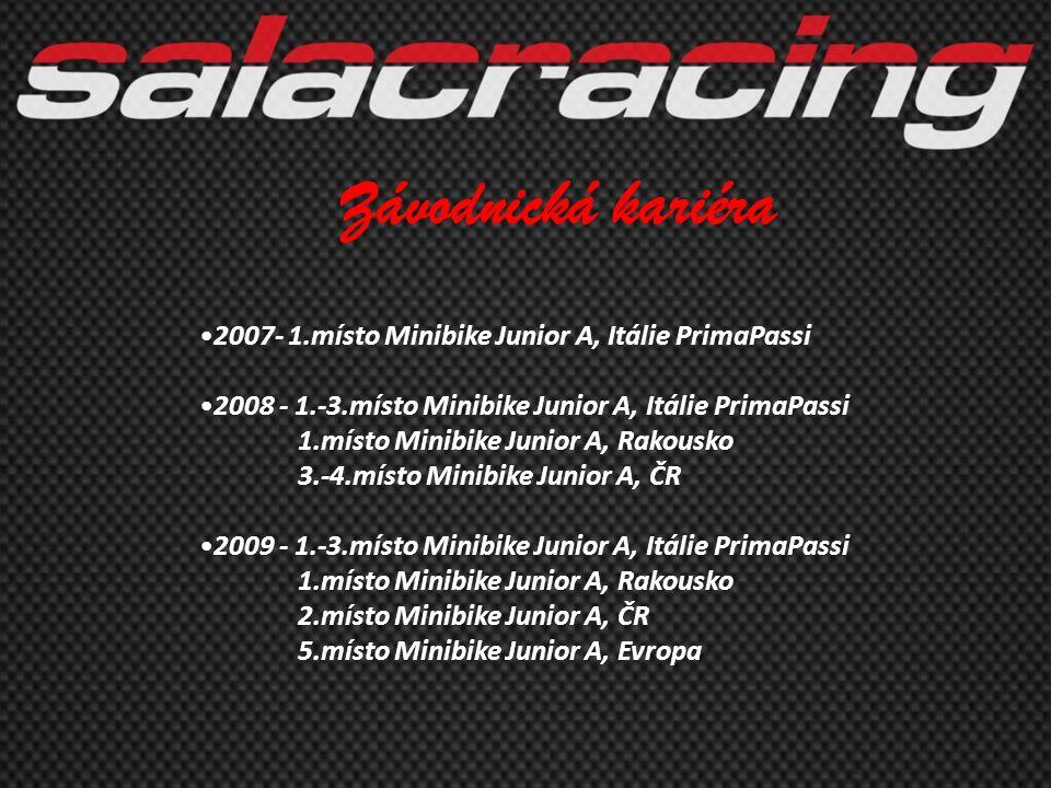 Závodnická kariéra 2007- 1.místo Minibike Junior A, Itálie PrimaPassi