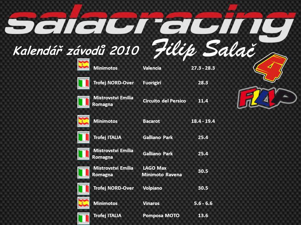 Kalendář závodů 2010 Minimotos Valencia 27.3 - 28.3 Trofej NORD-Over