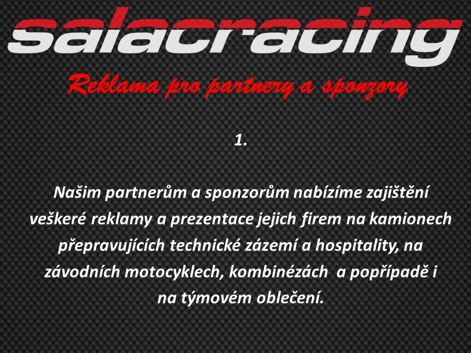 Reklama pro partnery a sponzory