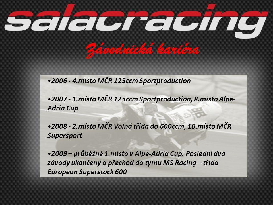 Závodnická kariéra 2006 - 4.místo MČR 125ccm Sportproduction