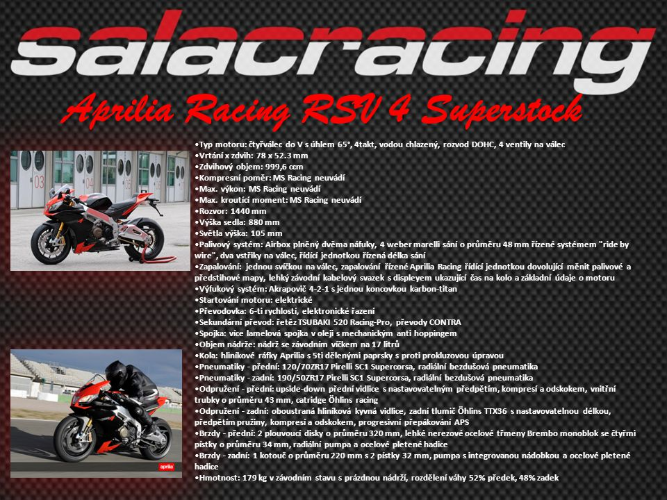 Aprilia Racing RSV 4 Superstock