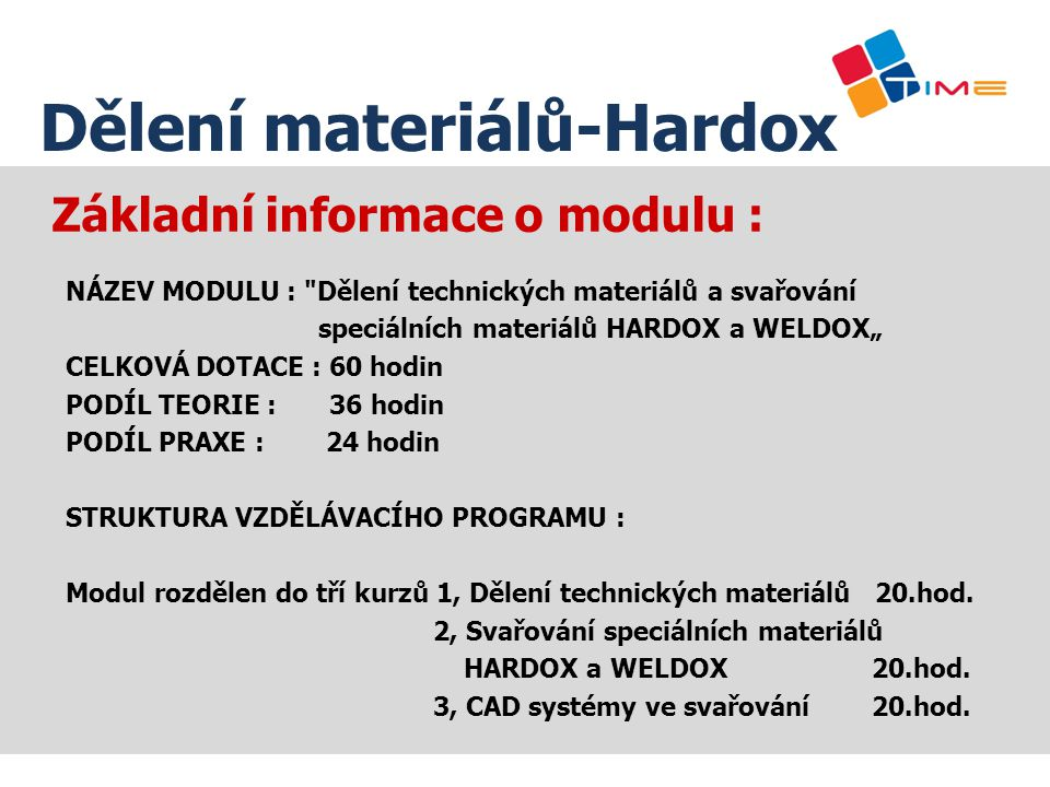 Základní informace o modulu :