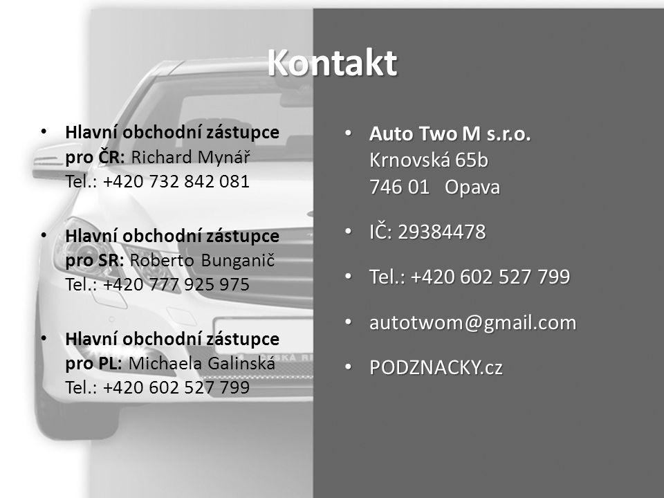 Kontakt Auto Two M s.r.o. Krnovská 65b 746 01 Opava IČ: 29384478