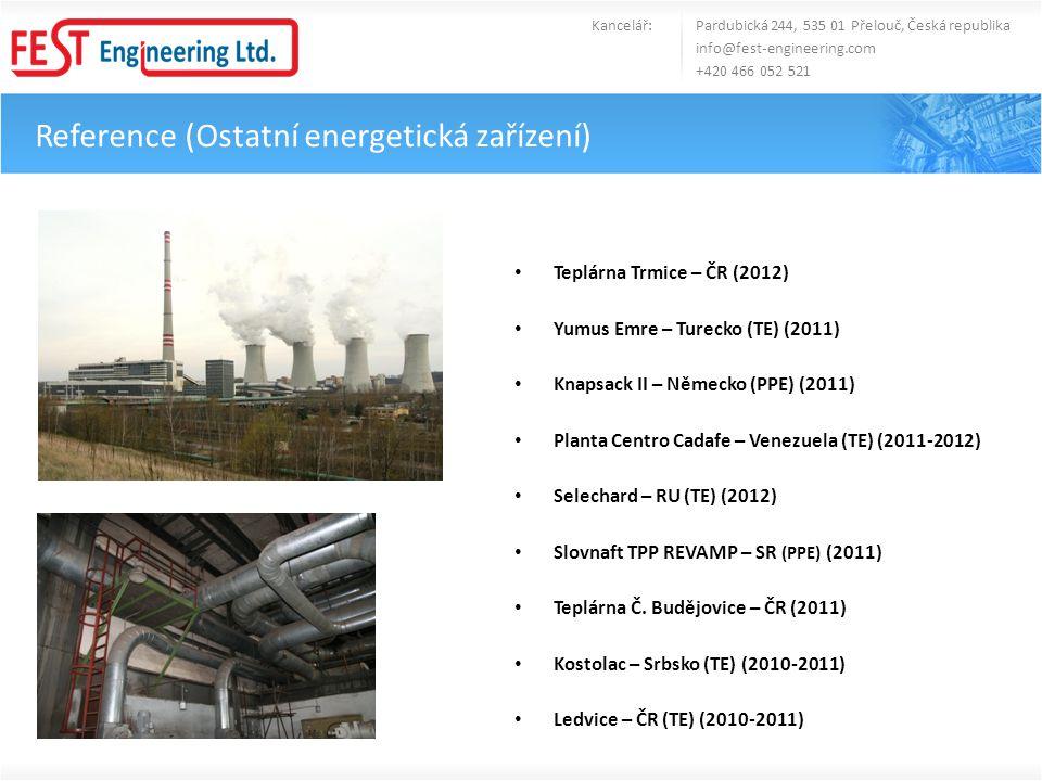 Reference (Ostatní energetická zařízení)