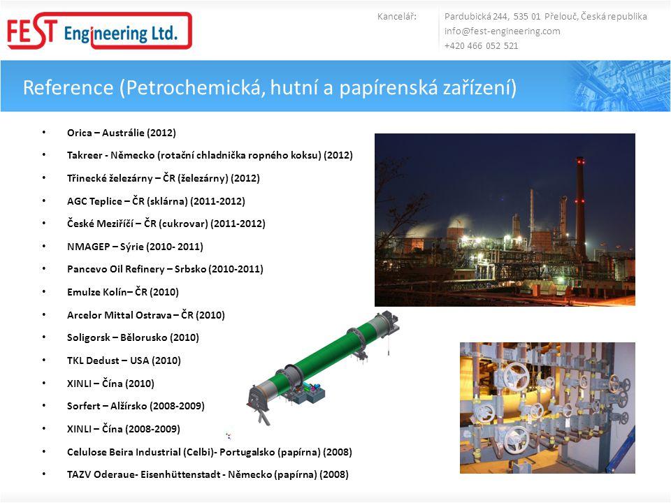 Reference (Petrochemická, hutní a papírenská zařízení)