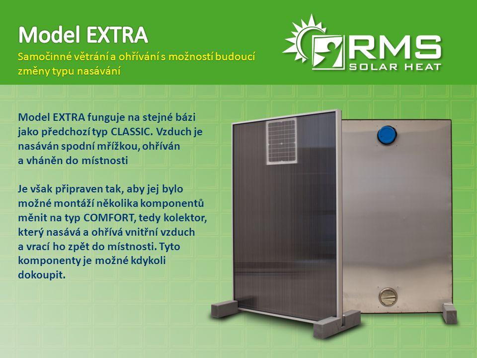 Model EXTRA Samočinné větrání a ohřívání s možností budoucí