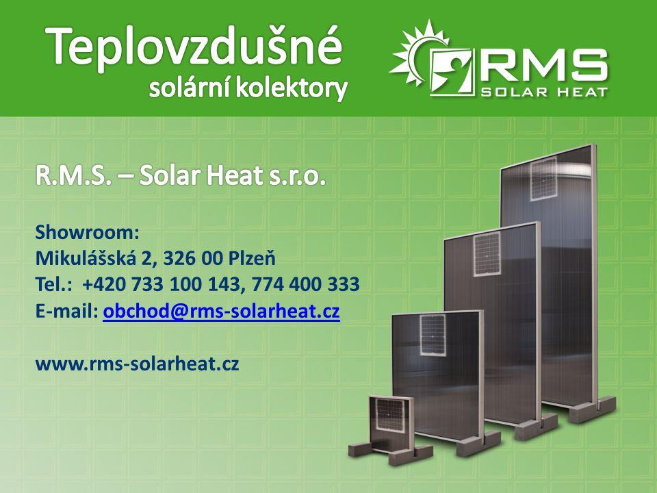 Teplovzdušné solární kolektory R.M.S. – Solar Heat s.r.o. Showroom: