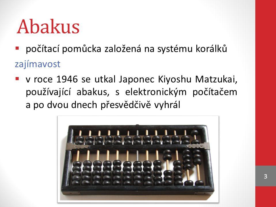 Abakus počítací pomůcka založená na systému korálků zajímavost
