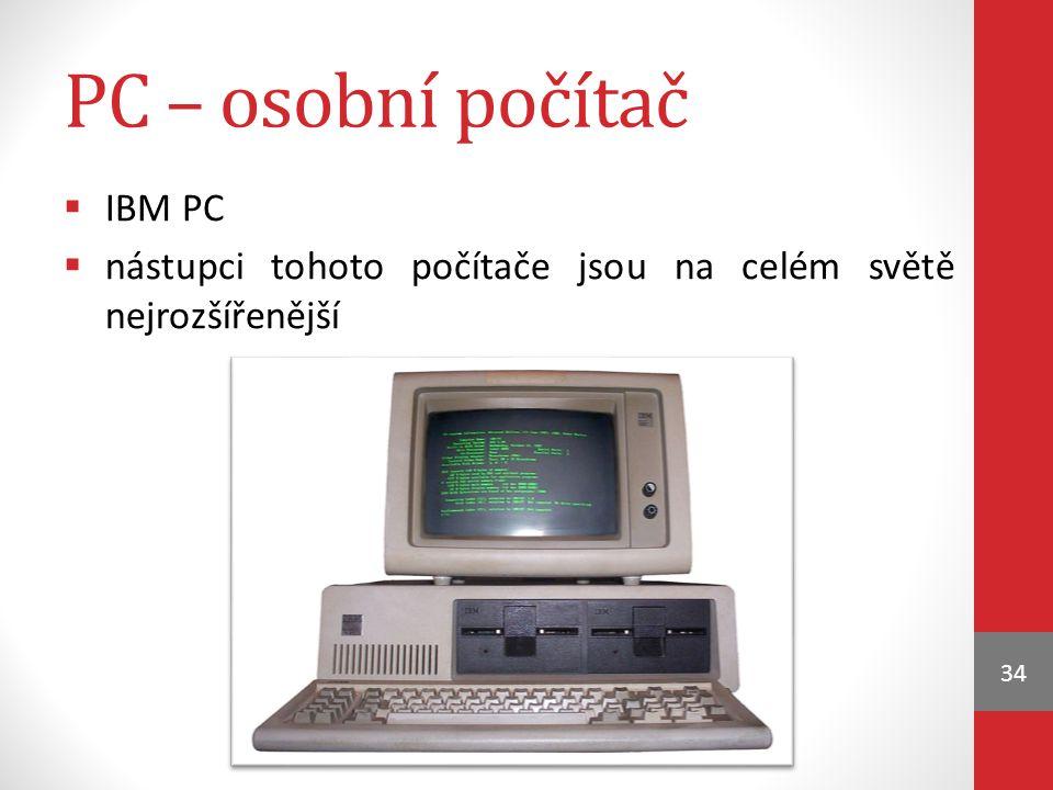PC – osobní počítač IBM PC