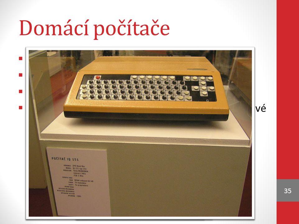 Domácí počítače rozšíření v 80. letech 20. st.