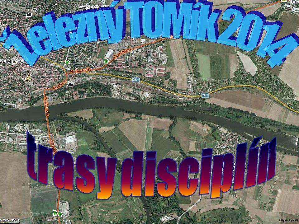 Železný TOMík 2014 trasy disciplín