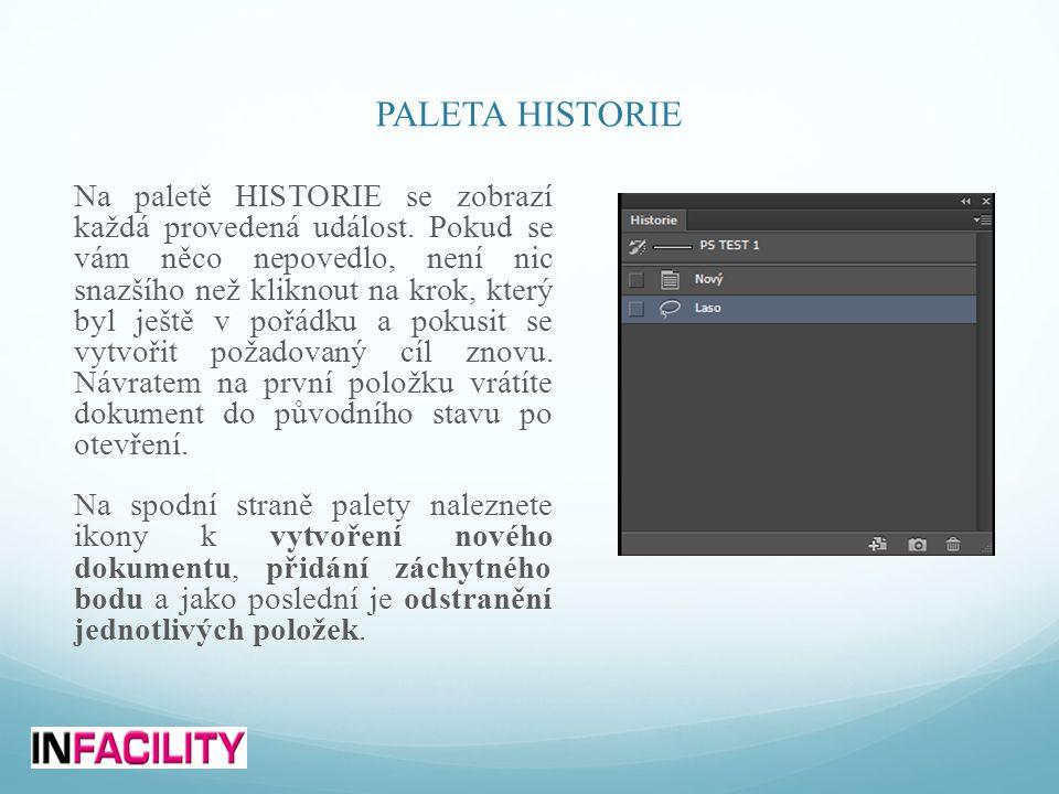 PALETA HISTORIE