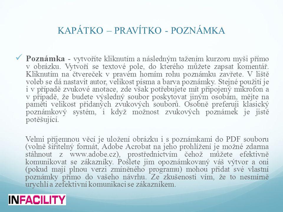 KAPÁTKO – PRAVÍTKO - POZNÁMKA