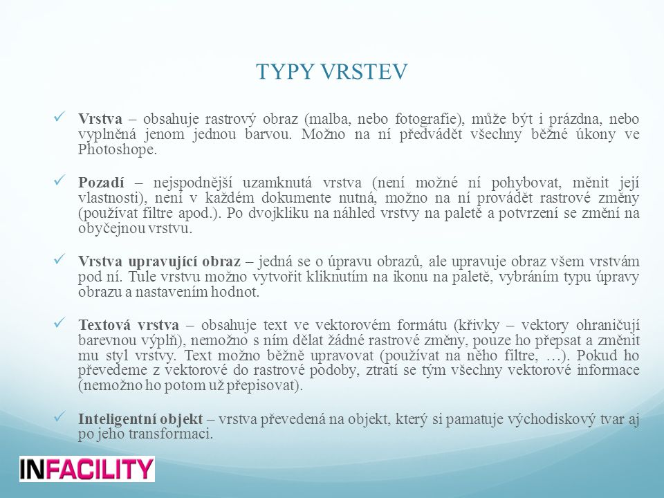 TYPY VRSTEV