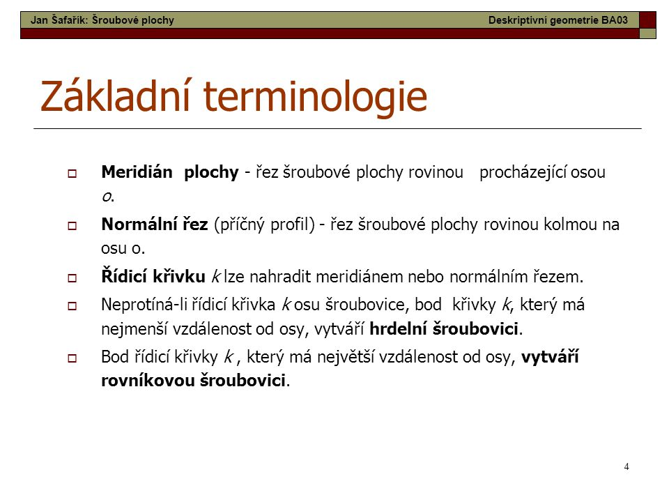Základní terminologie