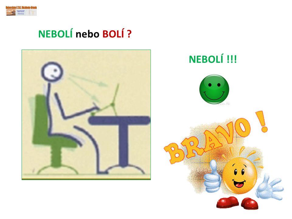NEBOLÍ nebo BOLÍ NEBOLÍ !!!