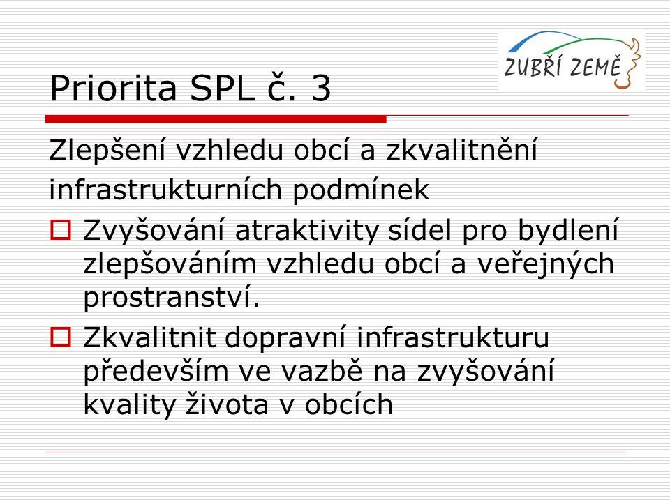 Priorita SPL č. 3 Zlepšení vzhledu obcí a zkvalitnění