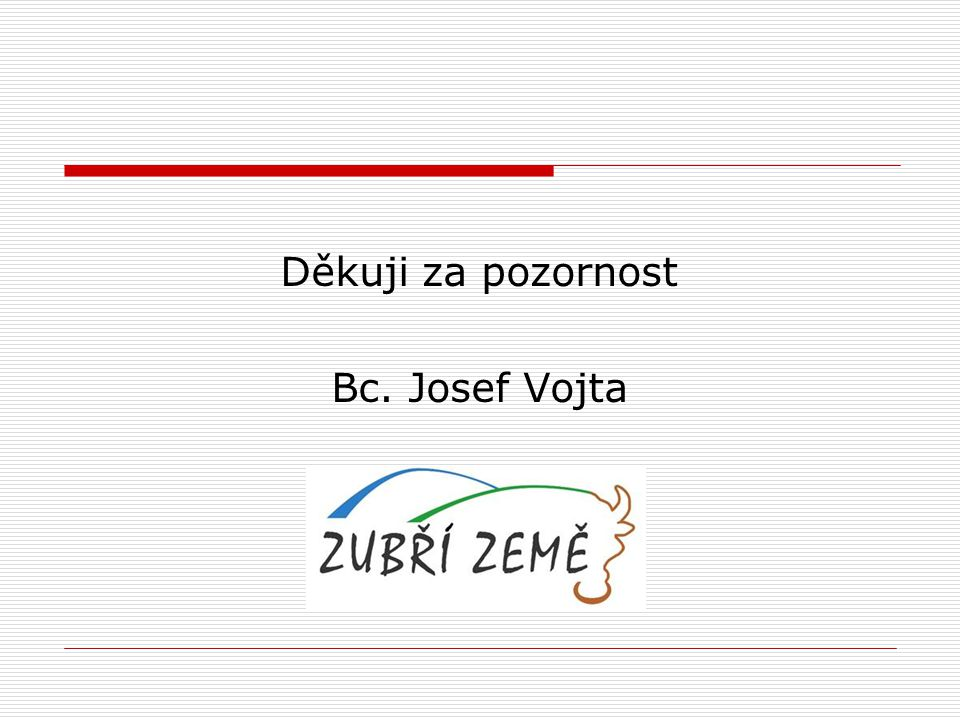 Děkuji za pozornost Bc. Josef Vojta