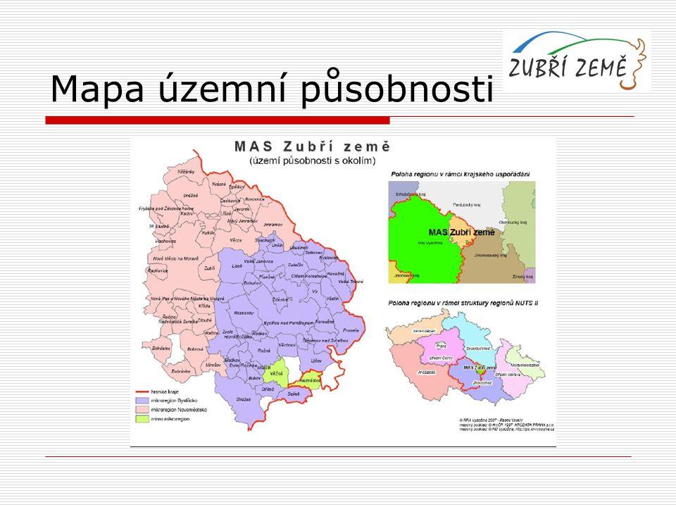 Mapa územní působnosti