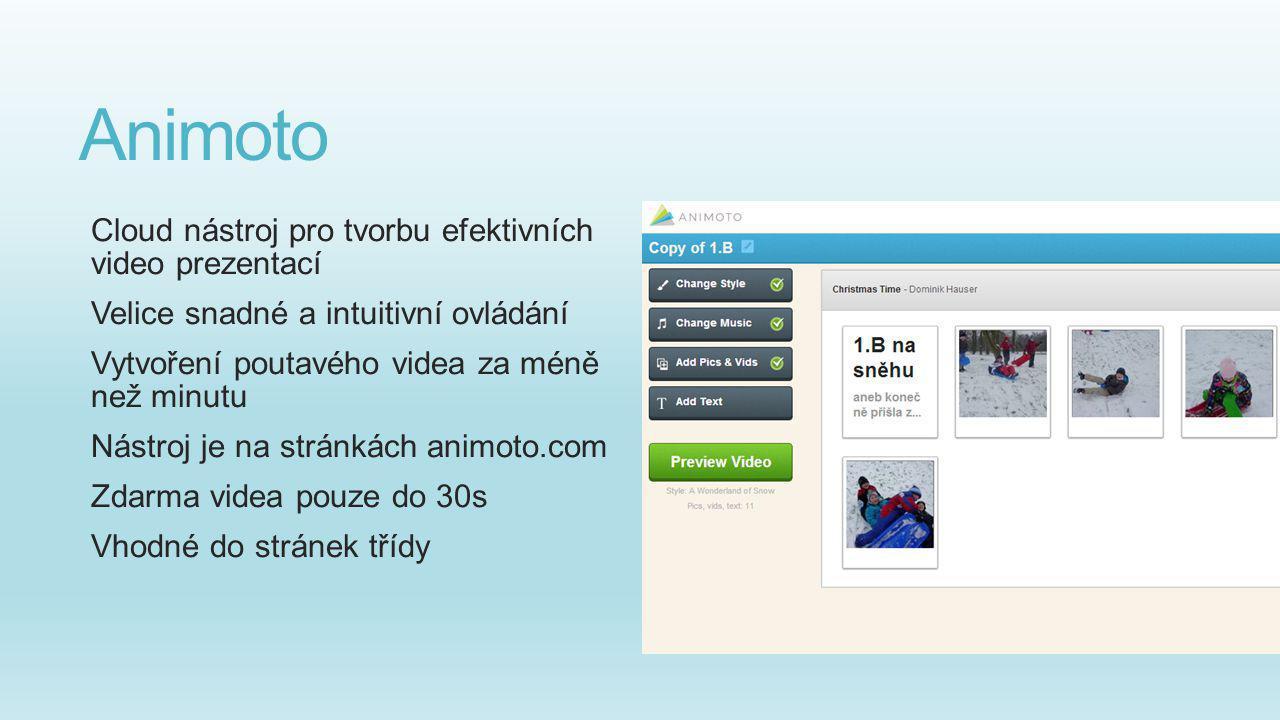 Animoto Cloud nástroj pro tvorbu efektivních video prezentací