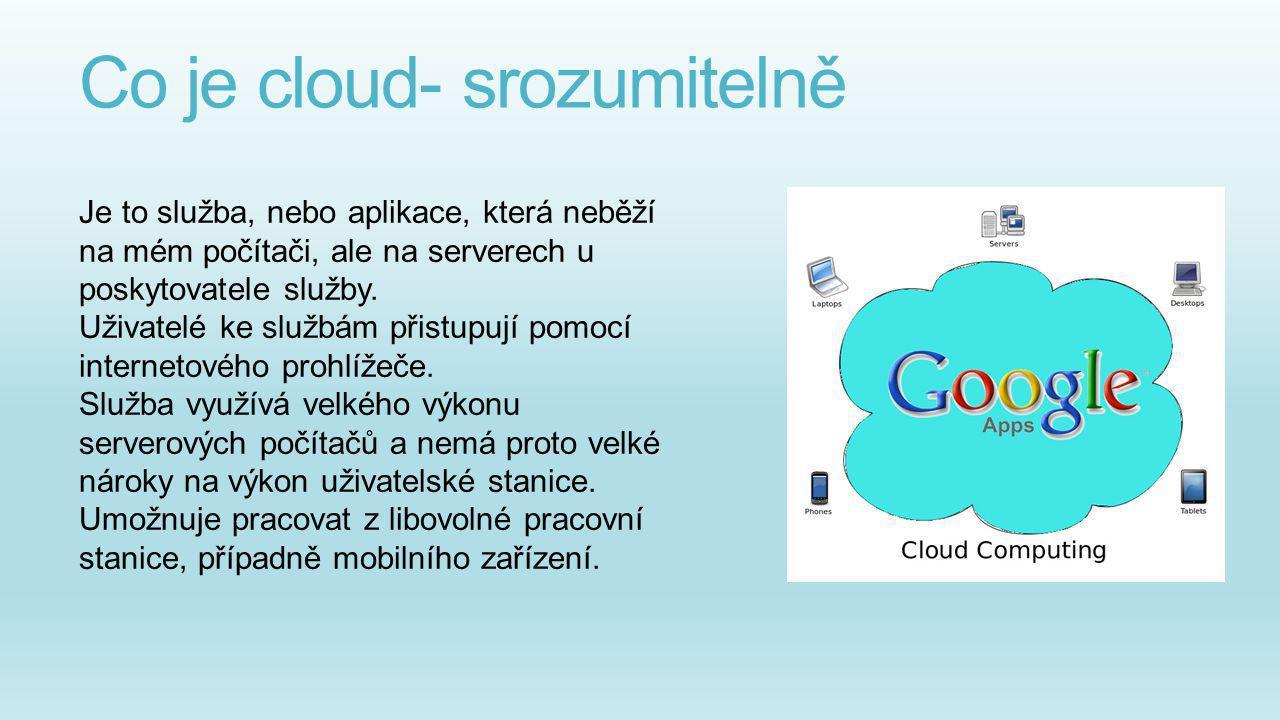 Co je cloud- srozumitelně