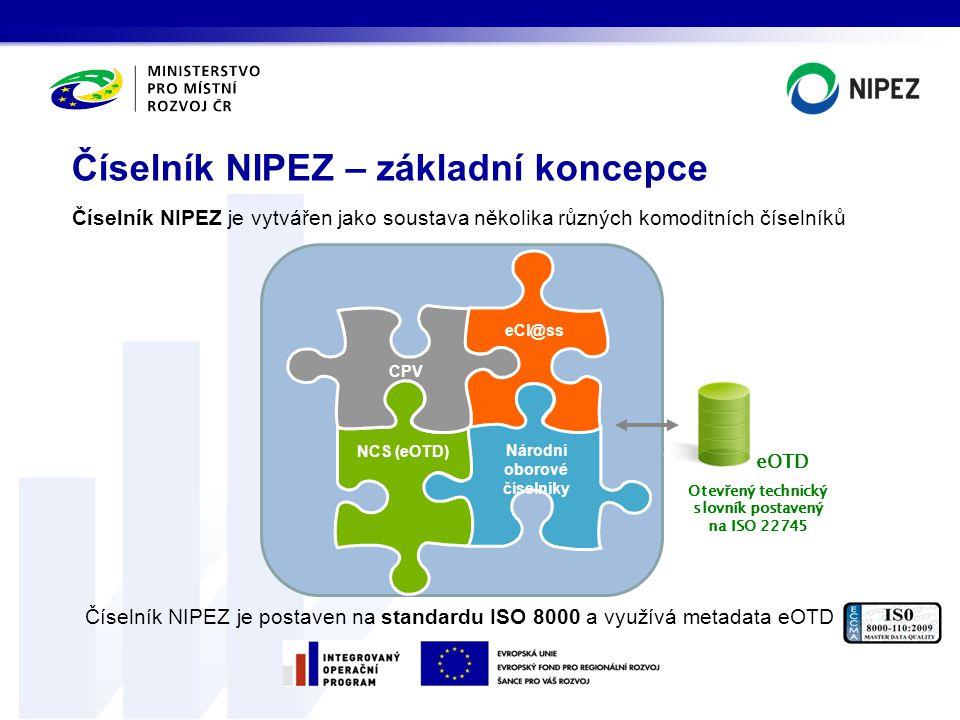 Číselník NIPEZ – základní koncepce