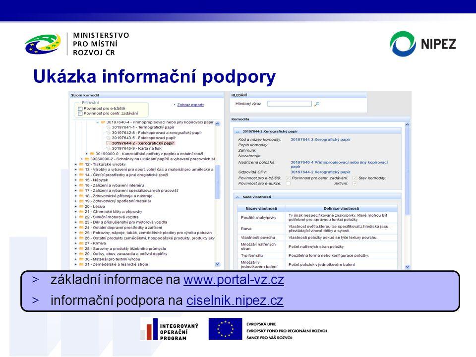 Ukázka informační podpory