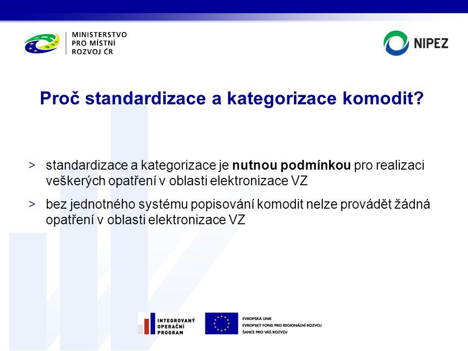 Proč standardizace a kategorizace komodit