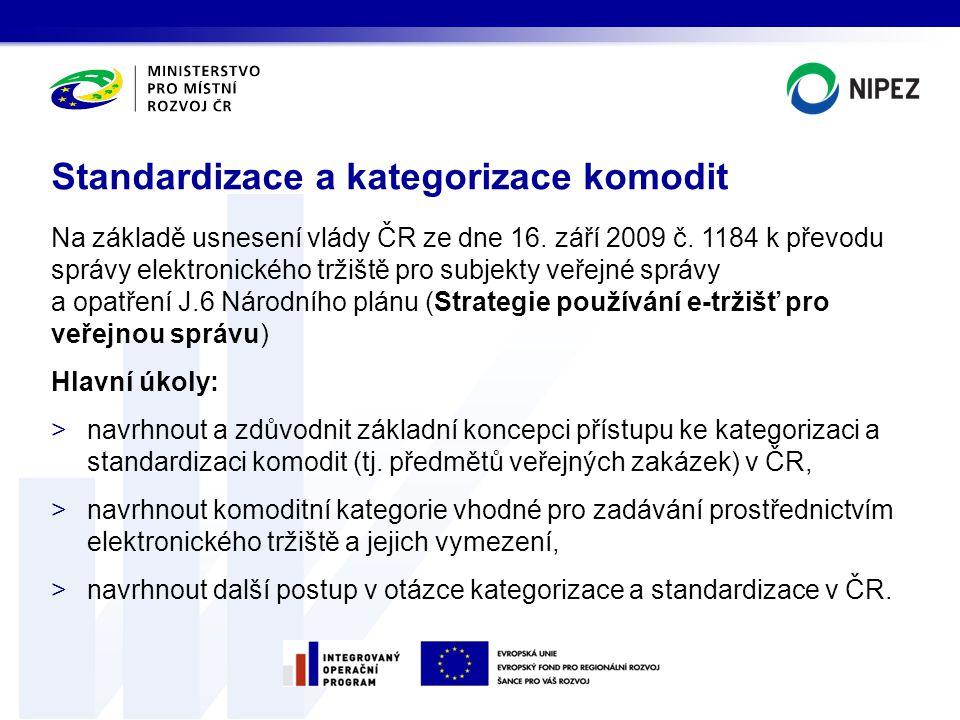 Standardizace a kategorizace komodit
