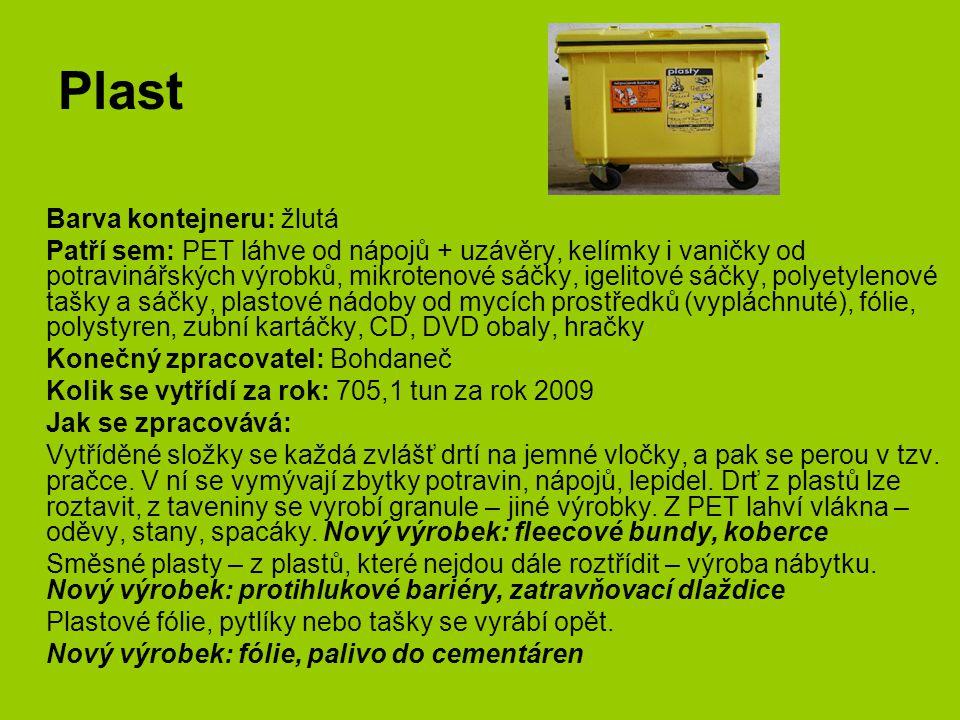 Plast Barva kontejneru: žlutá