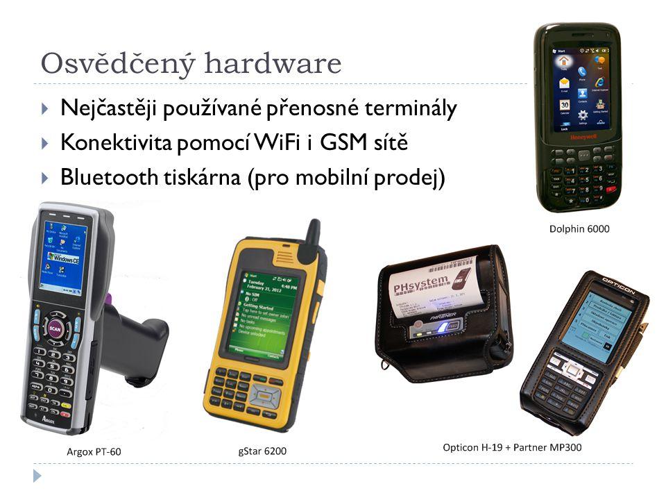 Osvědčený hardware Nejčastěji používané přenosné terminály