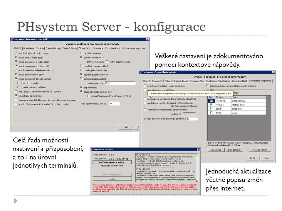 PHsystem Server - konfigurace