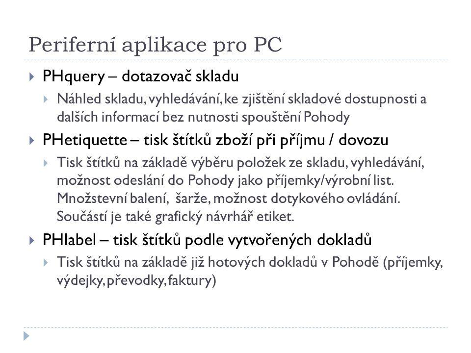 Periferní aplikace pro PC