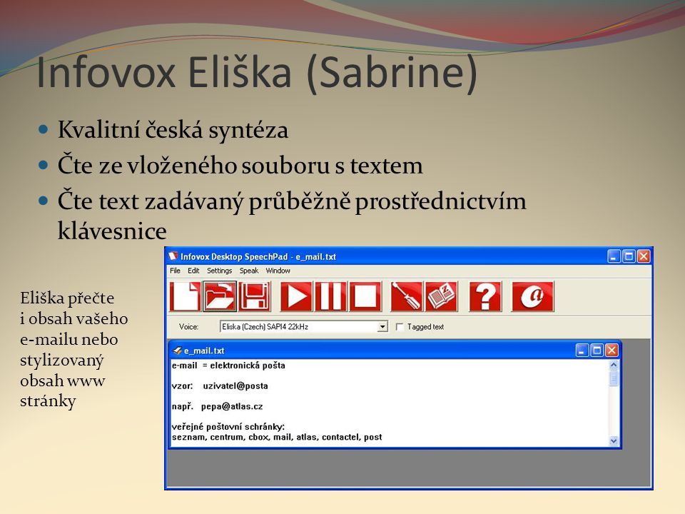 Infovox Eliška (Sabrine)